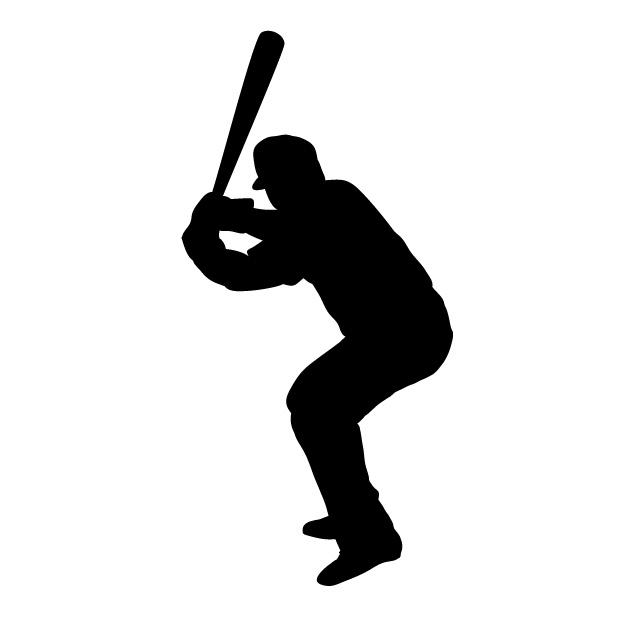 野球のシルエット
